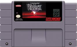 Cartridge artwork for Warlock on the Nintendo SNES.
