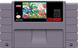 Cartridge artwork for Whirlo on the Nintendo SNES.