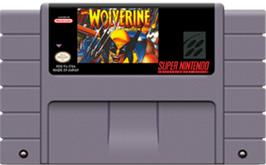 Cartridge artwork for Wolverine: Adamantium Rage on the Nintendo SNES.