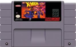 Cartridge artwork for X-Men: Mutant Apocalypse on the Nintendo SNES.