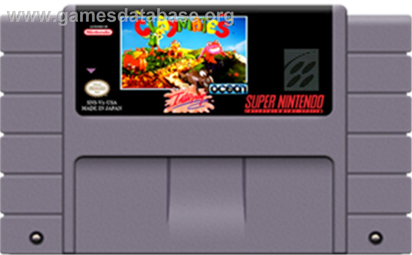 Claymates - Nintendo SNES - Artwork - Cartridge