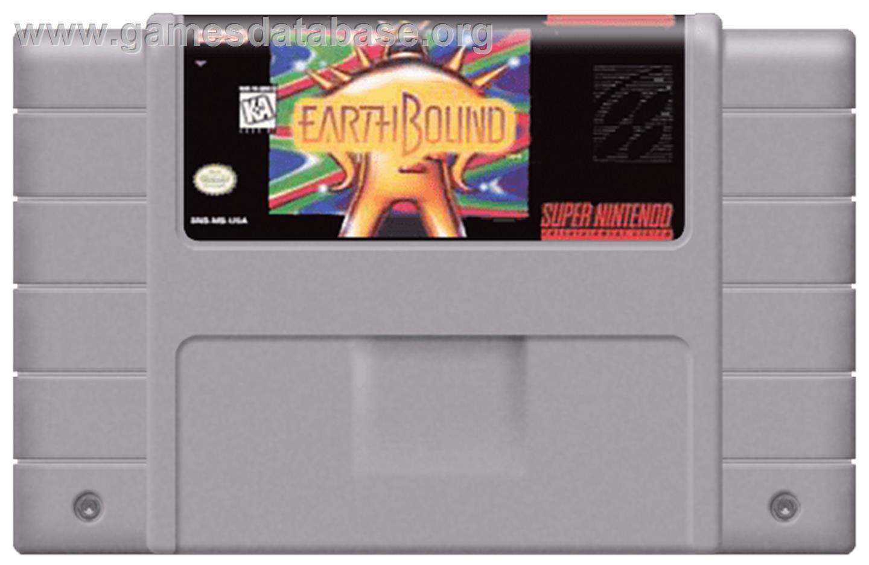 EarthBound - Nintendo SNES - Artwork - Cartridge