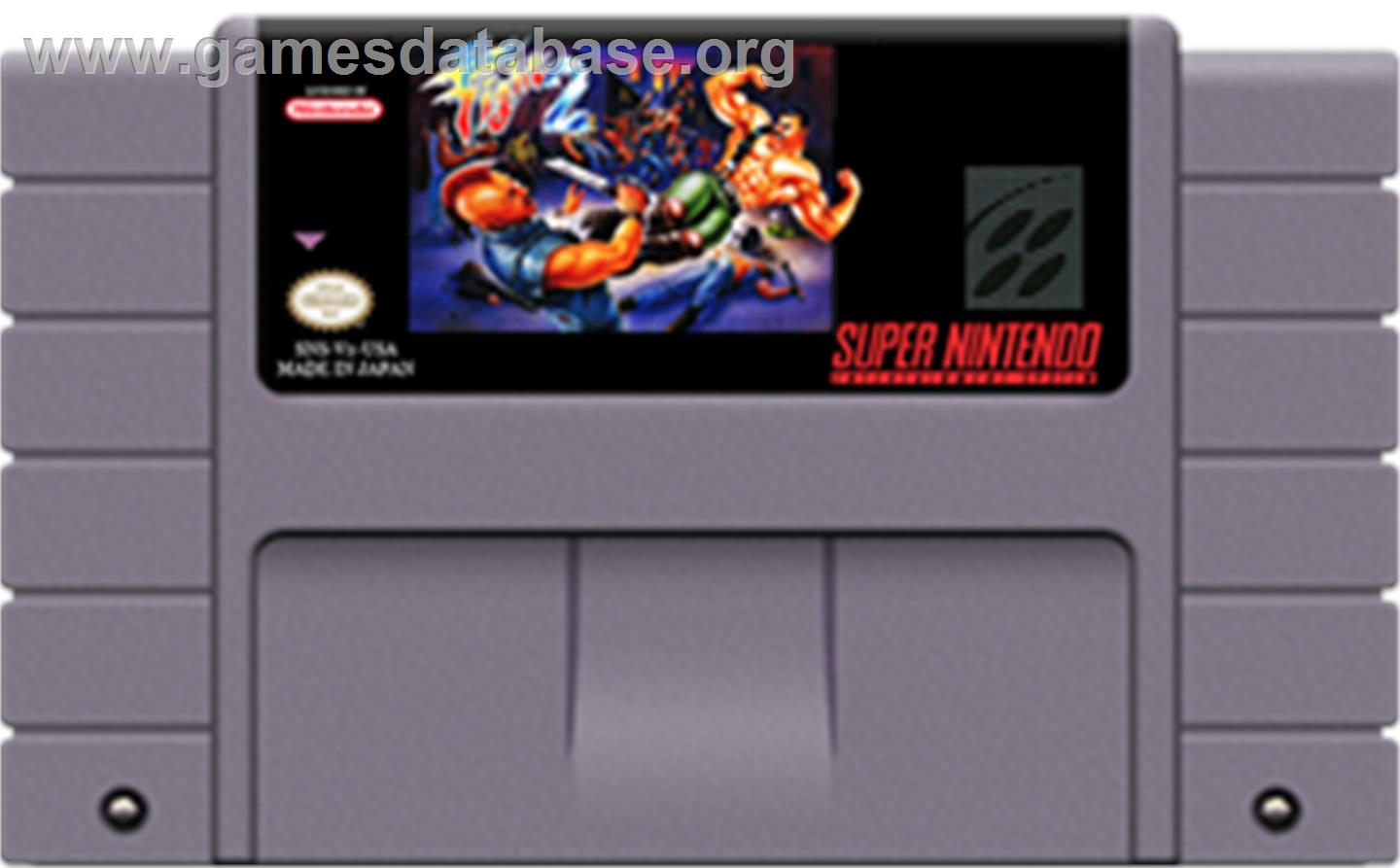 Final Fight 2 - Nintendo SNES - Artwork - Cartridge