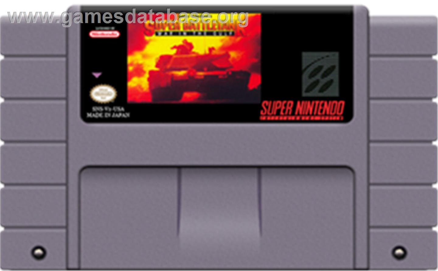 Garry Kitchen's Super Battletank: War in the Gulf - Nintendo SNES - Artwork - Cartridge
