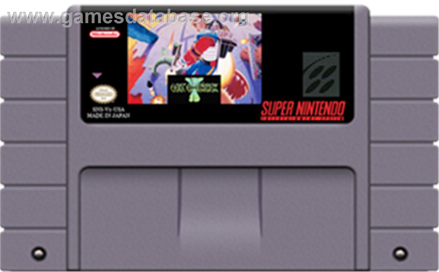 Jim Power: The Lost Dimension in 3D - Nintendo SNES - Artwork - Cartridge
