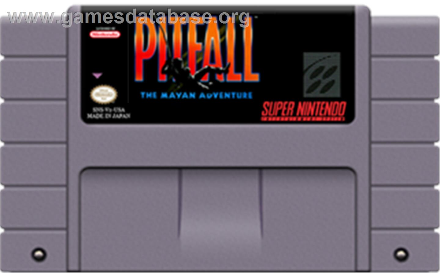 Pitfall: The Mayan Adventure - Nintendo SNES - Artwork - Cartridge
