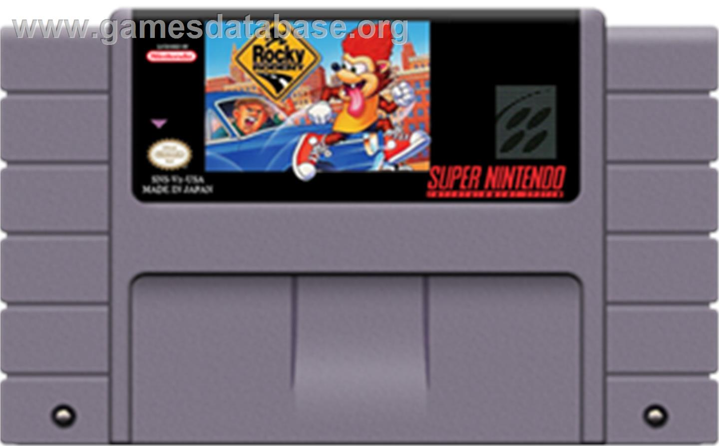 Rocky Rodent - Nintendo SNES - Artwork - Cartridge