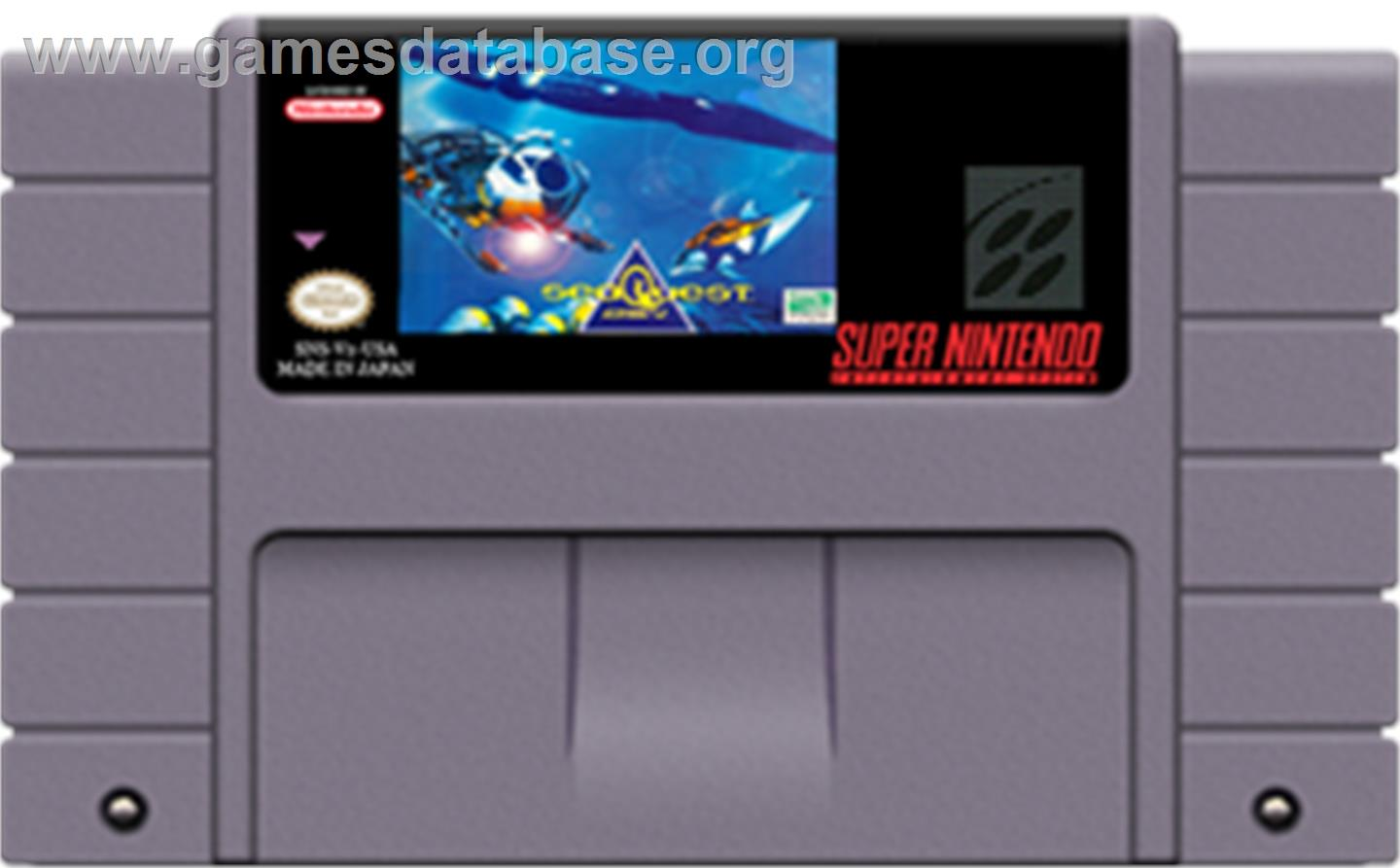 SeaQuest DSV - Nintendo SNES - Artwork - Cartridge