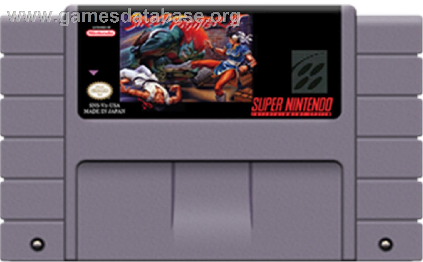 Street Fighter II: The World Warrior - Nintendo SNES - Artwork - Cartridge