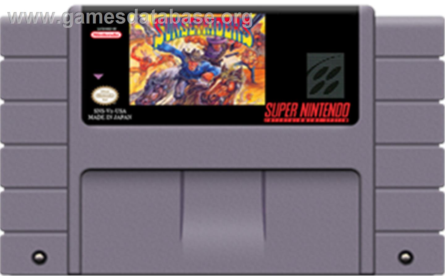 Sunset Riders - Nintendo SNES - Artwork - Cartridge