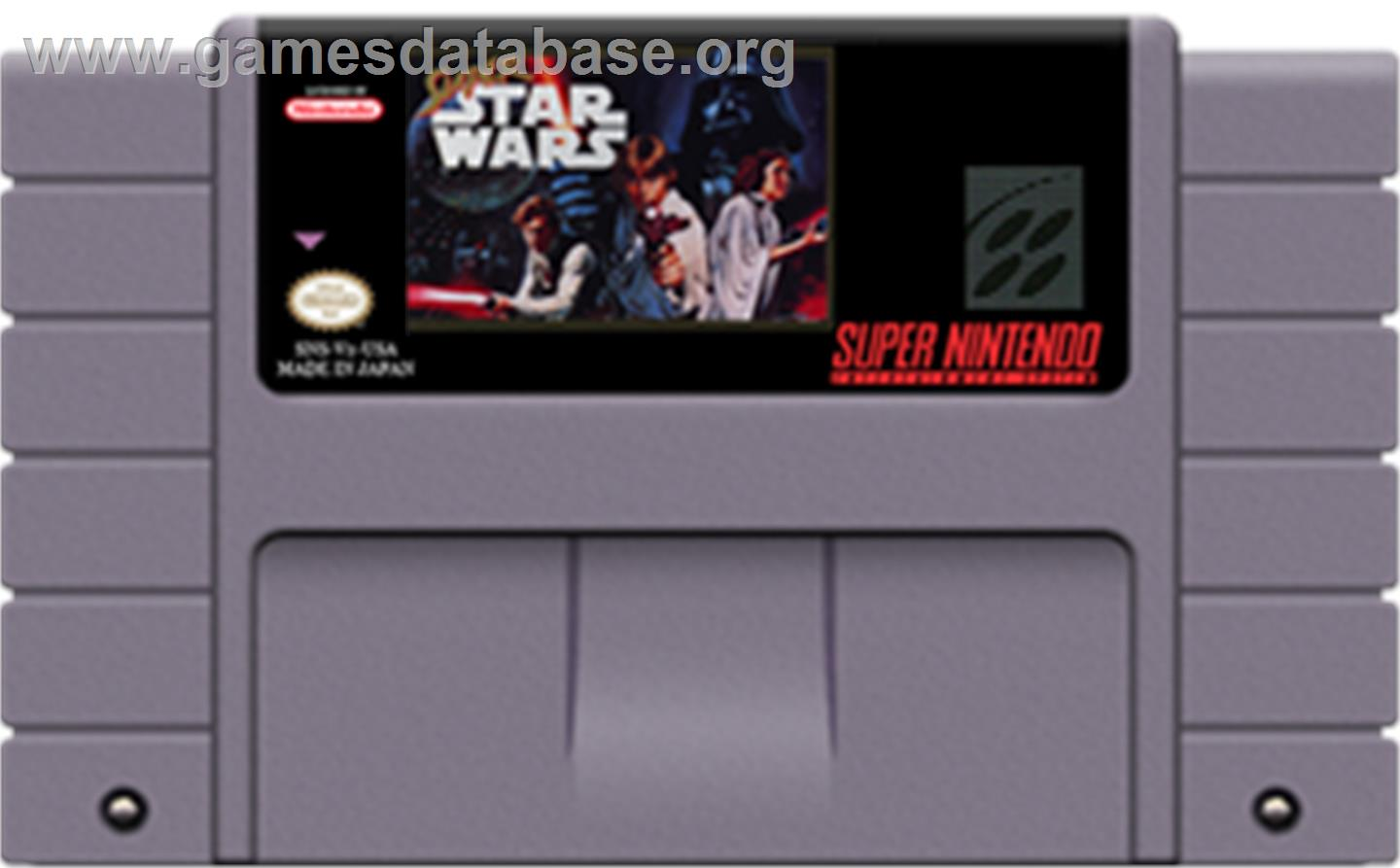 Super Star Wars - Nintendo SNES - Artwork - Cartridge