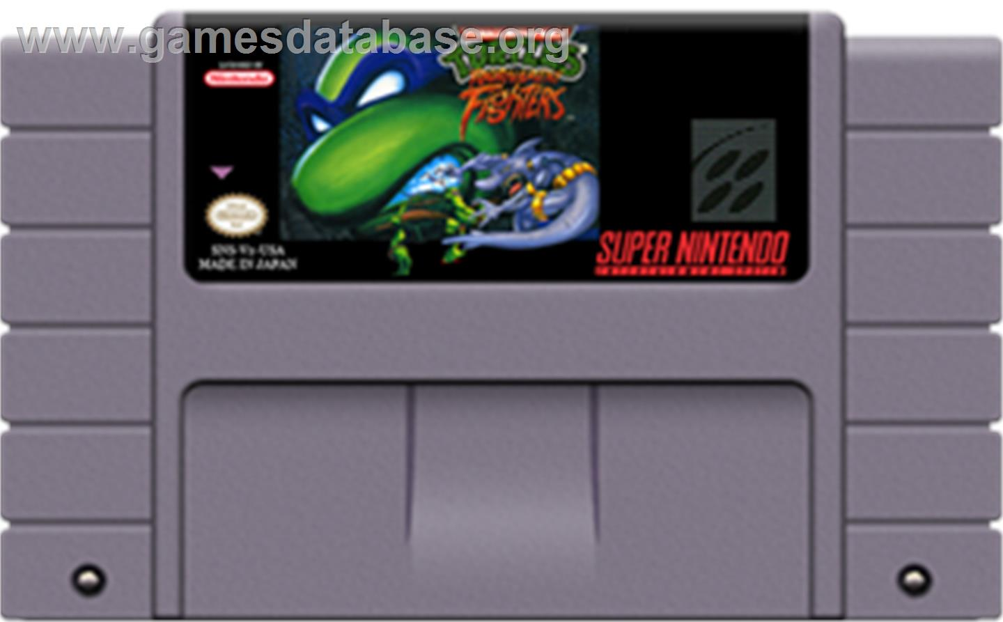 Teenage Mutant Ninja Turtles: Tournament Fighters - Nintendo SNES - Artwork - Cartridge
