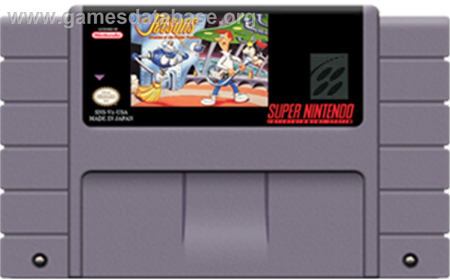 The Jetsons: Invasion of the Planet Pirates - Nintendo SNES - Artwork - Cartridge