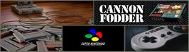 Arcade Cabinet Marquee for Cannon Fodder.