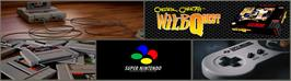 Arcade Cabinet Marquee for Chester Cheetah: Wild Wild Quest.