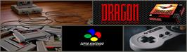 Arcade Cabinet Marquee for Dragon: The Bruce Lee Story.