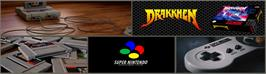 Arcade Cabinet Marquee for Drakkhen.