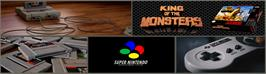 Arcade Cabinet Marquee for King of the Monsters.