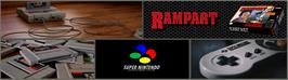 Arcade Cabinet Marquee for Rampart.