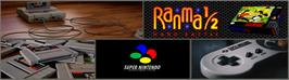 Arcade Cabinet Marquee for Ranma 1/2: Hard Battle.