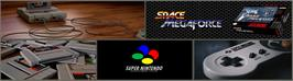 Arcade Cabinet Marquee for Space Megaforce.