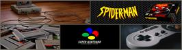 Arcade Cabinet Marquee for Spider-Man: The Animated Series.