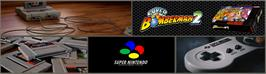 Arcade Cabinet Marquee for Super Bomberman 2.