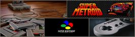 Arcade Cabinet Marquee for Super Metroid.
