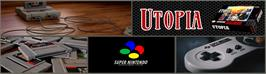 Arcade Cabinet Marquee for Utopia: The Creation of a Nation.