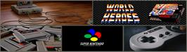 Arcade Cabinet Marquee for World Heroes.