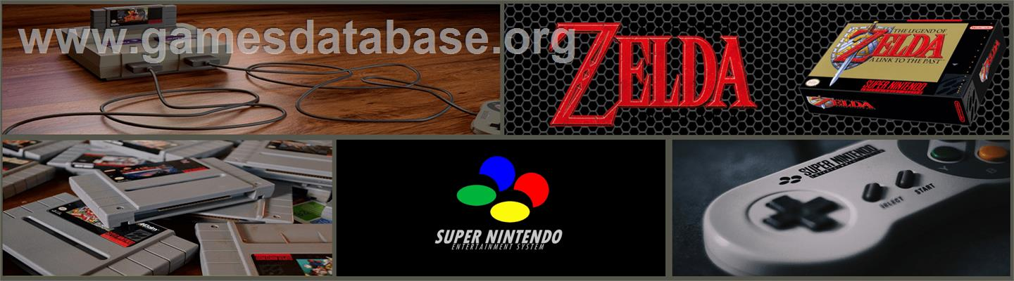 The Legend of Zelda: A Link to the Past - Nintendo SNES - Artwork - Marquee