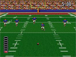 In game image of ABC Monday Night Football on the Nintendo SNES.