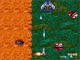 In game image of Acrobat Mission on the Nintendo SNES.