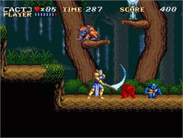 In game image of ActRaiser on the Nintendo SNES.