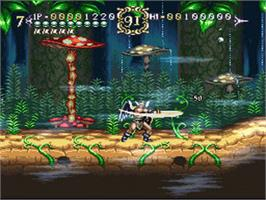 In game image of ActRaiser 2 on the Nintendo SNES.