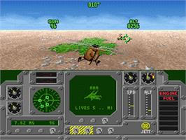 In game image of Air Cavalry on the Nintendo SNES.