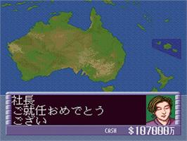 In game image of Air Management II: Koukuu Ou o Mezase on the Nintendo SNES.