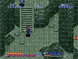 In game image of Alcahest on the Nintendo SNES.