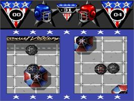 In game image of American Gladiators on the Nintendo SNES.