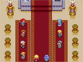 In game image of Angelique: Voice Fantasy on the Nintendo SNES.