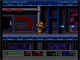 In game image of B.O.B. on the Nintendo SNES.