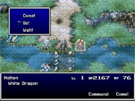 In game image of Bahamut Lagoon on the Nintendo SNES.