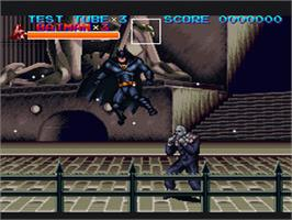 In game image of Batman Returns on the Nintendo SNES.