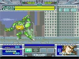 In game image of Battle Clash on the Nintendo SNES.