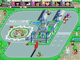 In game image of Battle Cross on the Nintendo SNES.