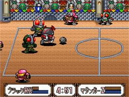 In game image of Battle Dodge Ball II on the Nintendo SNES.