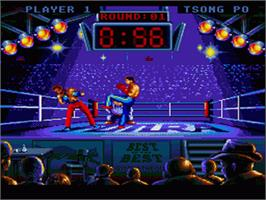 In game image of Best of the Best Championship Karate on the Nintendo SNES.