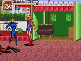 In game image of Bishoujo Senshi Sailor Moon R on the Nintendo SNES.