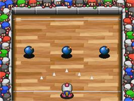 In game image of Bomberman B-Daman on the Nintendo SNES.