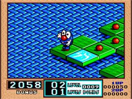 In game image of Bombuzal on the Nintendo SNES.